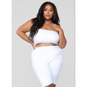 NWOT Fashion Nova White Cutout Romper 1X